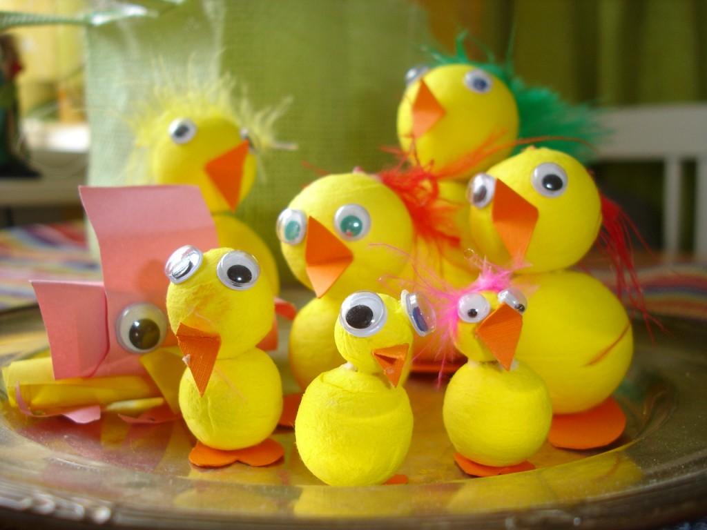 Ett gäng härliga fantasifulla påskkycklingar!
